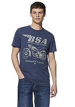 BSA Motorcycles T-Shirt - Blue Marl