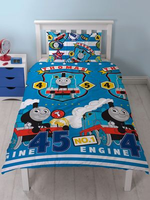 Thomas & Friends Patch Single Duvet Cover and Pillowcase Set