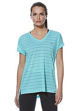 F&F Active Burnout Side Split V-Neck T-Shirt - Green