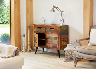 Coastal Chic Wooden Small Sideboard - Baumhaus