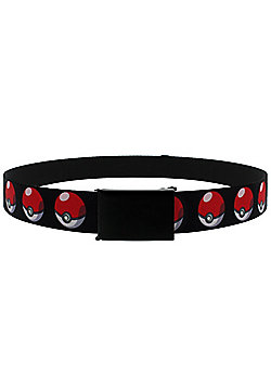 Pokemon Poke Ball Repeat Web Belt 119x3cm - Multi