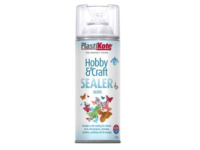 Plasti-kote Hobby & Craft Sealer Spray Clear Gloss 400ml