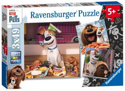 The Secret Life of Pets - 3 x 49pc Puzzle