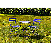 kingfisher purple metal bistro garden patio furniture set