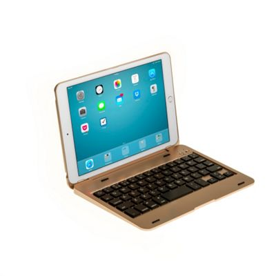 iPad Mini 4 Clamshell Bluetooth Keyboard Case in Gold