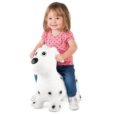 ToyStar Bouncy Dog Hopper Toy - White