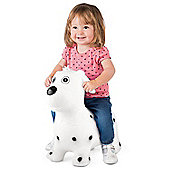ToyStar Bouncy Dog Hopper Toy - White