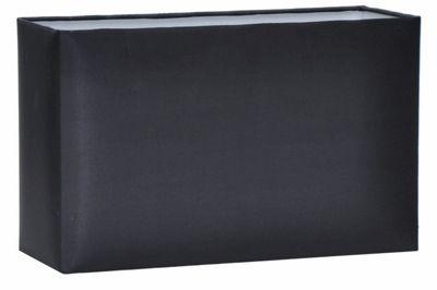 30cm Black Polysilk Rectangle Shade