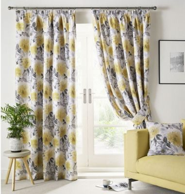 Sofia Fully lined Pencil pleat Curtains - 66x72
