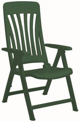 Resol Blanes Folding Multi-Position Garden Armchair - Green Plastic