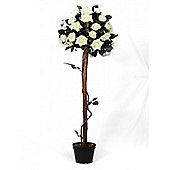 Artificial - Potted Rose Tree - Cream