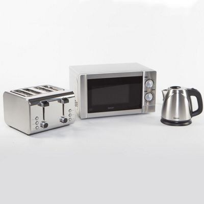 Kettle toaster microwave set bestmicrowave for Kitchen set kettle toaster microwave
