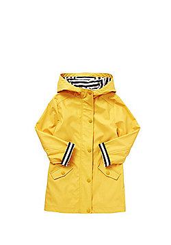 F&F Stripe Cuff Hooded Jacket - Yellow
