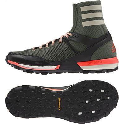 adidas Performance Mens Adizero XT Boost High Sock Trail Running Shoes - 8