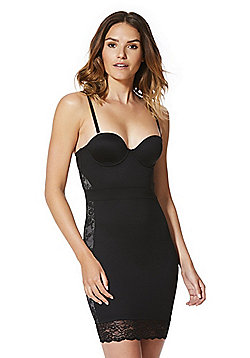 F&F Magic Firm Control Multiway Lace Slip - Black