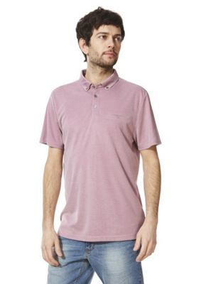 F&F Soft Touch Jersey Polo Shirt Red/White M