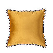 Tumeric Malia Soft Velvet Cushion 18""