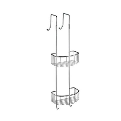 Smedbo Sideline Hanging Double Level C Shower Basket in Polished Chrome