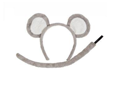 Mouse Ears Headband Tail Wild Animal Ears Fancy Dress Costume Accessory Set