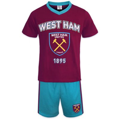 West Ham United FC Boys Short Pyjamas Claret 4-5 Years