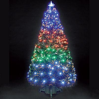 6ft Fantasia Green Fibre Optic Christmas Tree - Buy 6ft Fantasia Green Fibre Optic Christmas Tree From Our Christmas