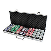 Cq Poker 500 11.5G Casino Numbered Chips + Case + Cards