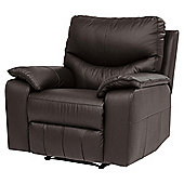 Chilton Leather Armchair Recliner, Chocolate