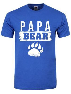 Papa Bear Men's T-shirt, Blue