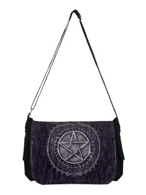 Pentagram Purple Messenger Bag 31x27x13cm