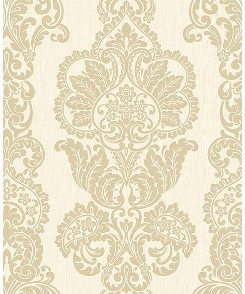 Rochester Damask Cream & Gold Wallpaper