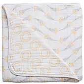 Bebe Au Lait Premium Muslin Snuggle Blanket - Wildflower + Halo (120 x 120cm)
