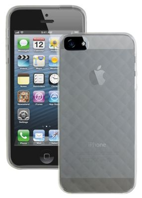 Caseit Quilted Glacier Clip-On Case Cover for iPhone 5/5S - Clear