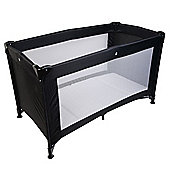 Safetots Travel Cot Black with Deluxe Mattress