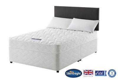 Silentnight Taplow Double Divan Bed, Non-Storage, Miracoil Comfort