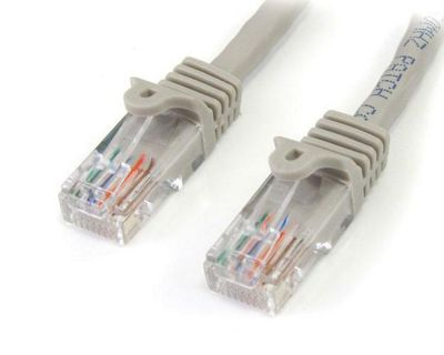 StarTech Category 5e 350 MHz Snag-Less UTP Grey Patch Cable (0.3m)