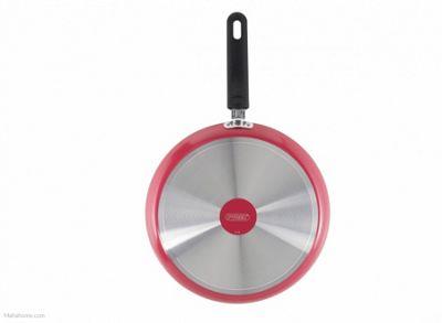 Pyrex aluminium Non-stick Crepiere Pan, Pink, 28cm