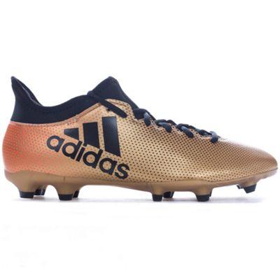 adidas X 17.3 Firm Ground Mens Football Boot Gold/Black Skystalker - UK 9