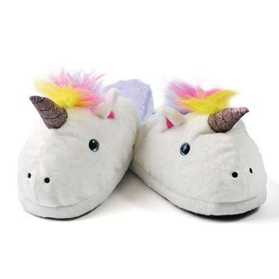 Unicorn Mule Slippers White