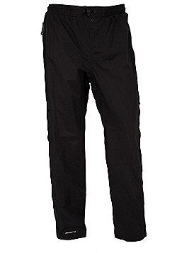 Mountain Warehouse Downpour Womens Short Length Waterproof Trousers - Black