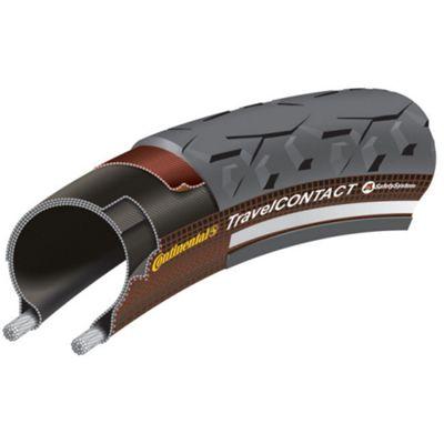 Continental Travel Contact Duraskin Rigid Tyre in Black/Reflex - 26 x 1.75