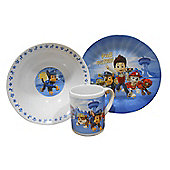 Paw Patrol 3pc Mealtime Tumbler, Bowl and Plate Dinner Set