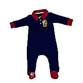British & Irish Lions Rugby Baby Sleepsuit - Navy - Navy