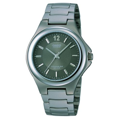 Casio LIN163/8A Analogue Watch with Titanium Bracelet