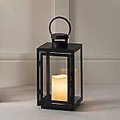Regular Black Metal Battery Outdoor LED Candle Lantern