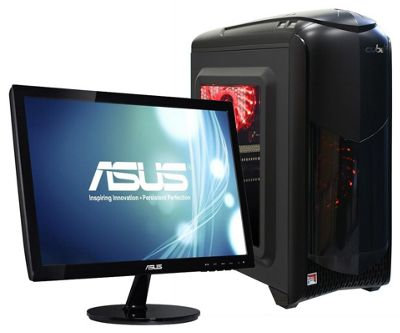 Cube RGB Gaming PC Quad Core 4GB 1TB Radeon R7 Graphics WIFI, HD Monitor, Keyboard & Mouse, Windows 10