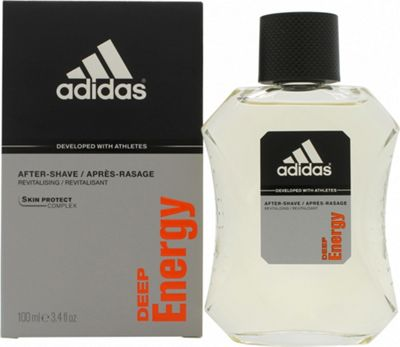 Adidas Deep Energy Aftershave 100ml Splash For Men