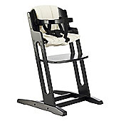 BabyDan DanChair High Chair Black With Beige Cushion