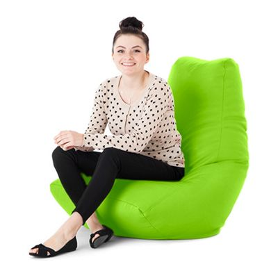 Lime Faux Leather Bean Bag Gaming Chair