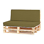 Water Resistant Pallet Large Back Cushion - Olive