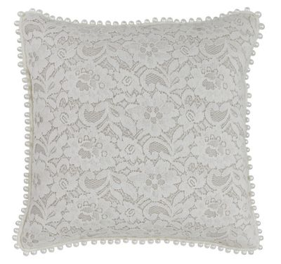 Natural White Lace Cushion Feminine Style Home Decor